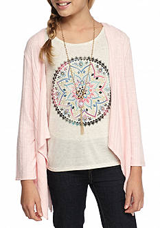 Speechless Cozy Medallion Top with Sweater Girls 7-16