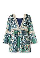 Speechless Printed Peasant Top Girls 7-16