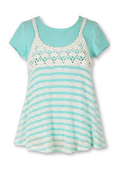 Speechless Striped Slip Shirt Girls 7-16