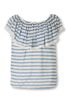 Speechless Striped Off the Shoulder Top Girls 7-16