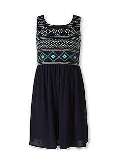 Speechless Embroidered Fit and Flare Dress Girls 7-16