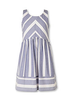 Speechless Chambray Stripe Dress Girls 7-16