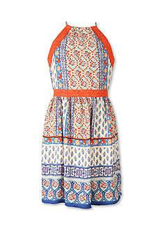 Speechless Printed Chiffon Dress Girls 7-16