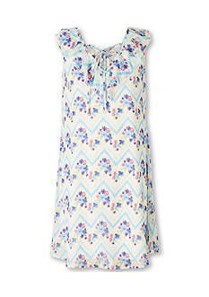 Speechless Floral Chevron Dress Girls 7-16