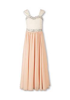 Speechless Plus Size Rhinestone Trim Dress Girls 7-16