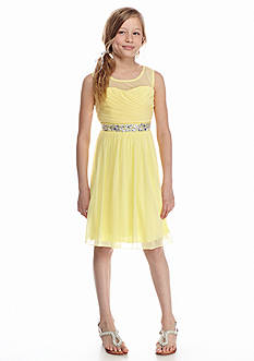 Speechless Sleeveless Rhinestone Embellished Dress Girls 7-16