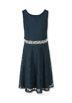 Speechless Lace Skater Jewel Waist Dress Girls 7-16