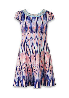 Speechless Cap Sleeve Printed Dress Girls 7-16 Plus