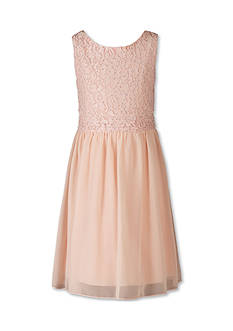 Speechless Sleeveless Blush Lace Dress - Girls 7-16