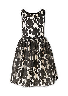 Speechless Sleeveless Illusion Floral Dress Girls 7-16