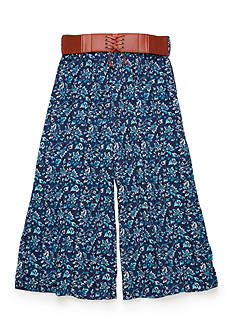 Speechless Belted Print Gaucho Pants Girls 7-16
