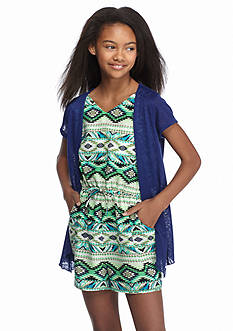Speechless Tribal Printed Romper with Cozy Girls 7-16