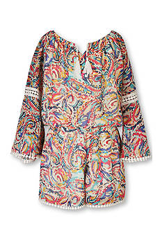 Speechless Paisley Print Romper Girls 7-16