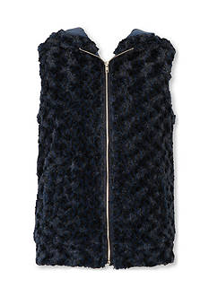 Speechless Faux Fur Puppy Vest Girls 7-16