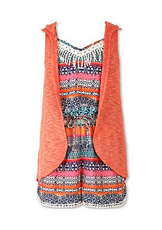 Speechless Chiffon Romper and Hooded Cozy 2fer Girls 7-16