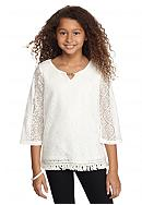SEQUIN HEARTS girls Crochet Tunic Girls 7-16