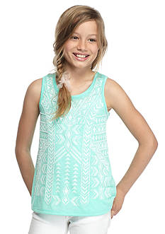 SEQUIN HEARTS girls Aztec Tank Top Girls 7-16