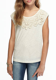 SEQUIN HEARTS girls Knit Crochet Top Girls 7-16