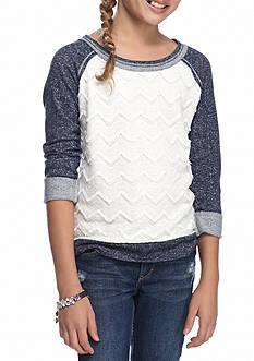SEQUIN HEARTS girls Lace Sweatshirt Girls 7-16