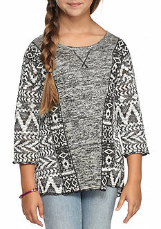 SEQUIN HEARTS girls Cozy Printed Top Girls 7-16