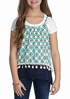 SEQUIN HEARTS girls Geo Tank and White Tee Girls 7-16