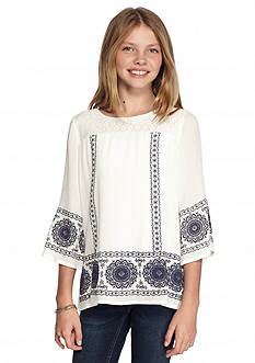 SEQUIN HEARTS girls Bell Sleeve Puff Printed Tunic Girls 7-16