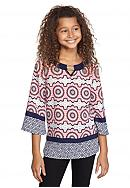SEQUIN HEARTS girls Three-Quarter Sleeve Printed