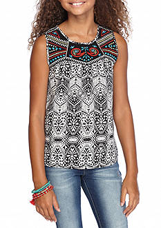 sequin hearts Tribal Printed Tank Girls 7-16