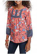 sequin hearts Printed Floral Tunic Top Girls 7-16