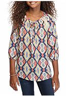 sequin hearts Geo Tribal Printed Tunic Top Girls