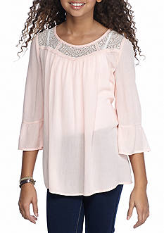 SEQUIN HEARTS girls Crepe Top Girls 7-16