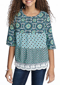 SEQUIN HEARTS girls Multi Print Tunic Girls 7-16