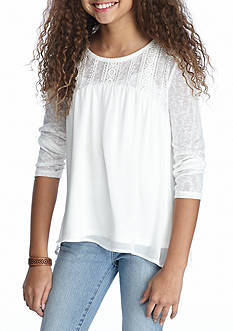 SEQUIN HEARTS girls Ivory Tunic Girls 7-16