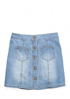 SEQUIN HEARTS girls Denim Button Front Skirt Girls 7-16