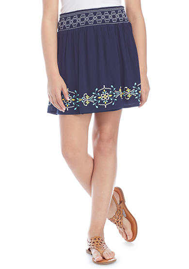 SEQUIN HEARTS girls Embroidered Skirt Girls 7-16 | Belk