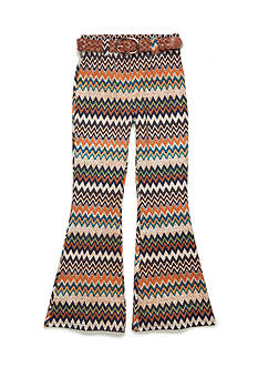SEQUIN HEARTS girls Chevron Print Flare Bell Bottom Pant Girls 7-16