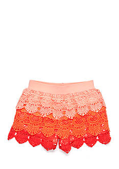 SEQUIN HEARTS girls Tiered Ombre Crochet Shorts Girls 7-16