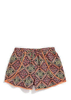 Sequin Hearts Tribal Print Soft Shorts Girls 7-16