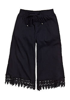 Sequin Hearts Drippy Lace Gaucho Capris Girls 7-16