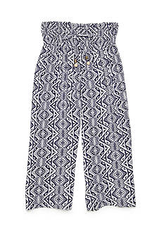 Sequin Hearts Abstract Printed Gaucho Crop Girls 7-16