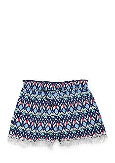 SEQUIN HEARTS girls Printed Drippy Lace Shorts Girls 7-16