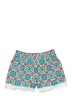 sequin hearts Floral Printed Shorts Girls 7-16