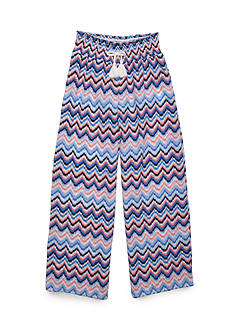 SEQUIN HEARTS girls Printed Smocked-Waist Pants Girls 7-16