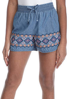 SEQUIN HEARTS girls Border Print Short Girls 7-16