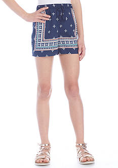 SEQUIN HEARTS girls Box Front Printed Shorts Girls 7-16