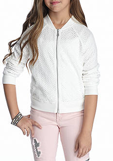 SEQUIN HEARTS girls Ivory Lace Bomber Girls 7-16