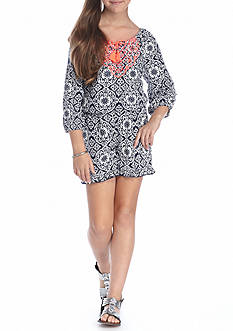 SEQUIN HEARTS girls Medallion Romper Girls 7-16