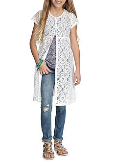 SEQUIN HEARTS girls Crochet Layering Piece Girls 7-16