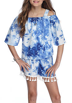 SEQUIN HEARTS girls Cold Shoulder 2-Piece Set Girls 7-16