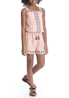 SEQUIN HEARTS girls Printed Romper Girls 7-16